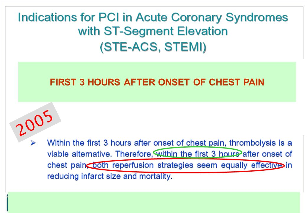 FIRST 3 HOURS AFTER ONSET OF CHEST PAIN