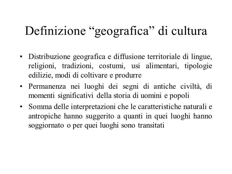 Definizione geografica di cultura