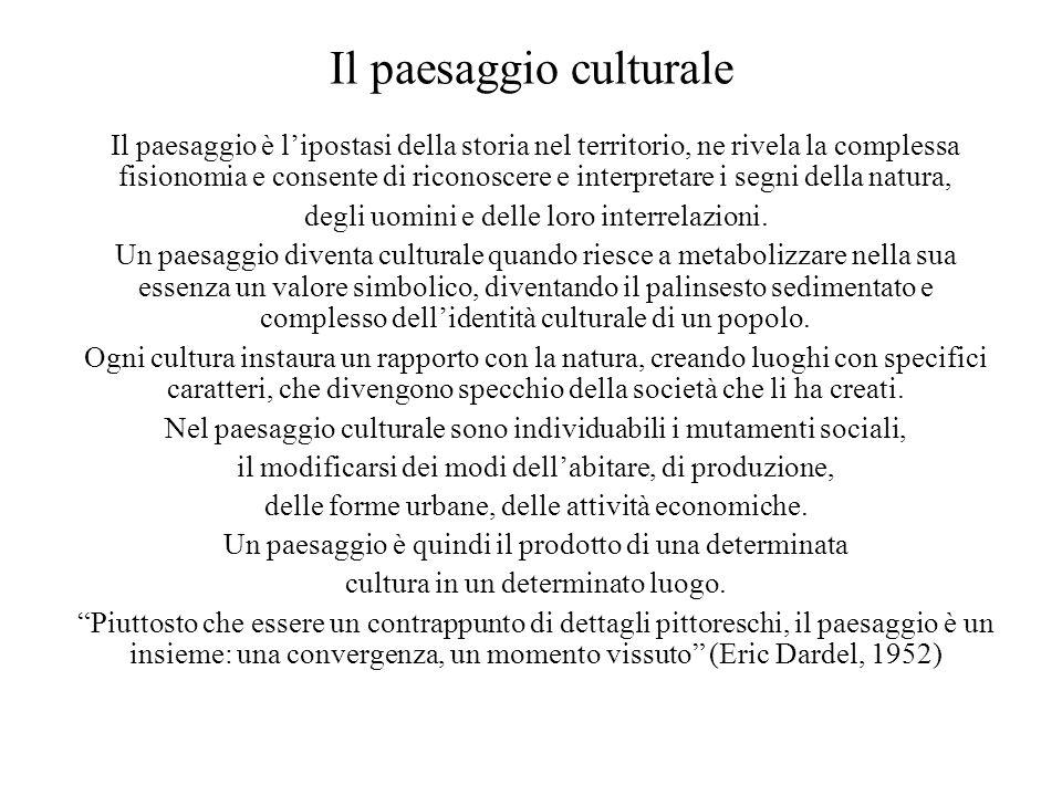 Il paesaggio culturale