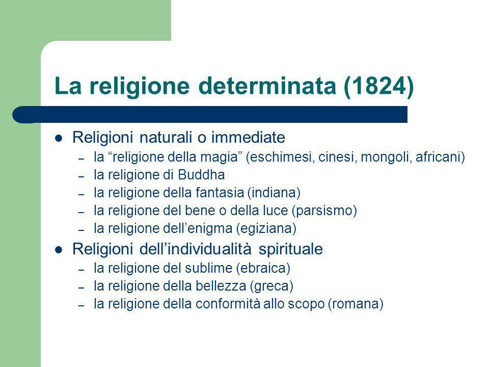 La religione determinata (1824)
