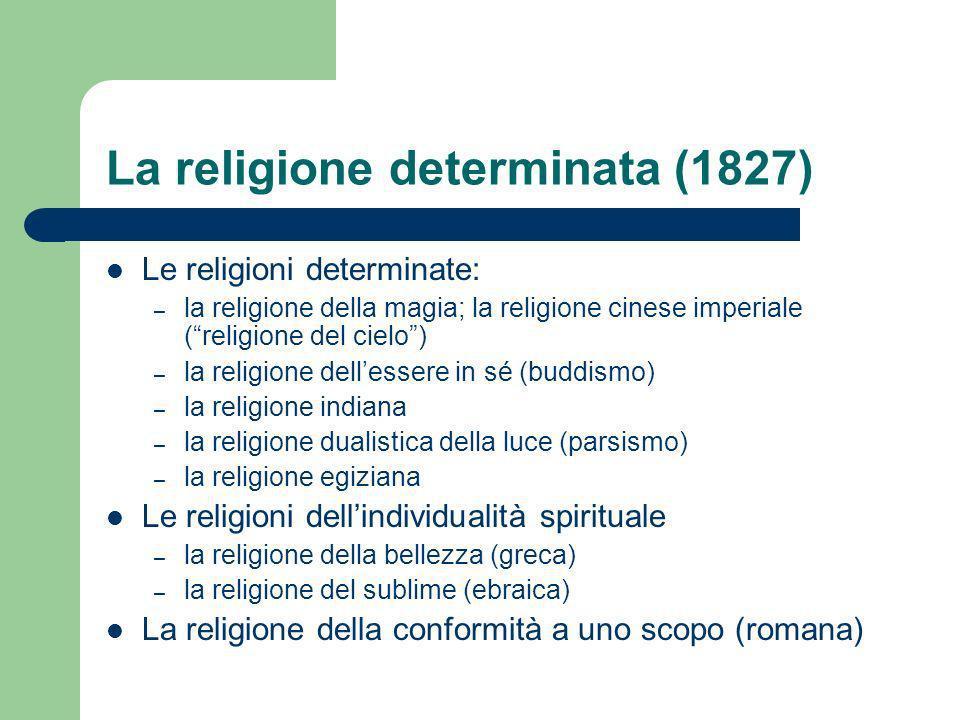 La religione determinata (1827)