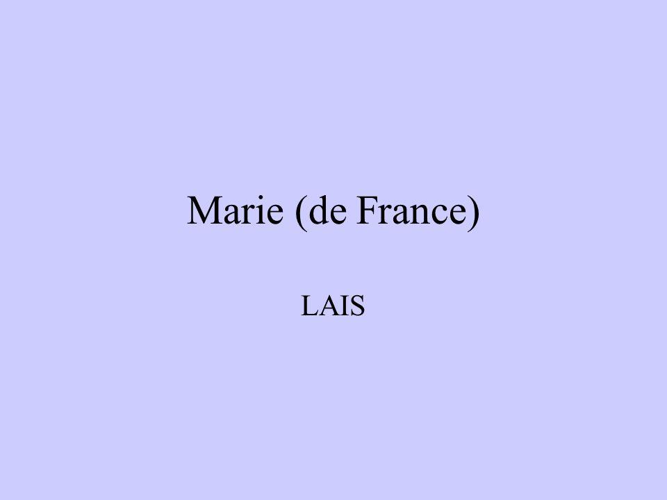 Marie (de France) LAIS