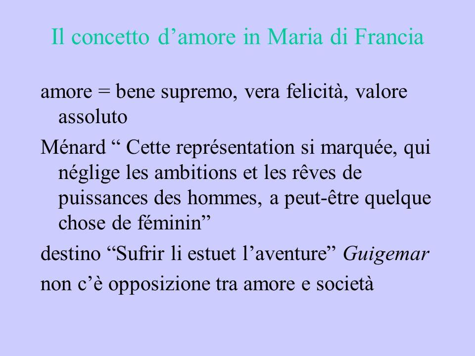 Il concetto d'amore in Maria di Francia