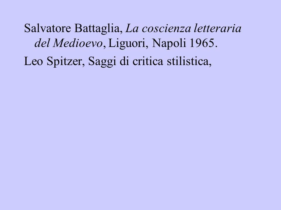 Salvatore Battaglia, La coscienza letteraria del Medioevo, Liguori, Napoli 1965.