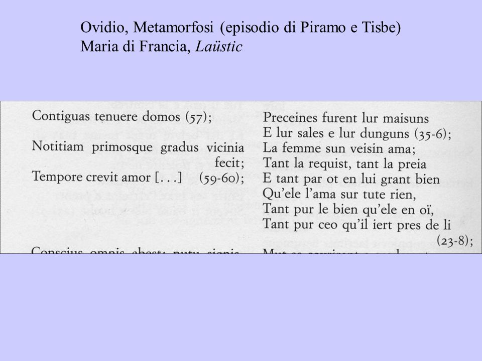 Ovidio, Metamorfosi (episodio di Piramo e Tisbe)
