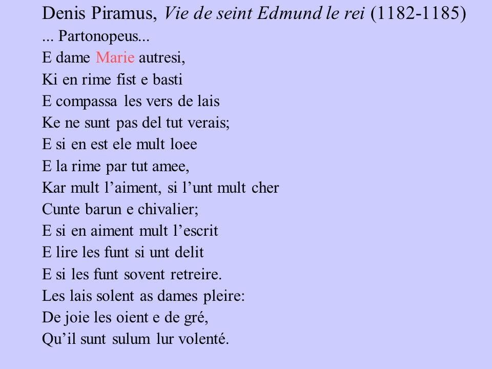 Denis Piramus, Vie de seint Edmund le rei (1182-1185)