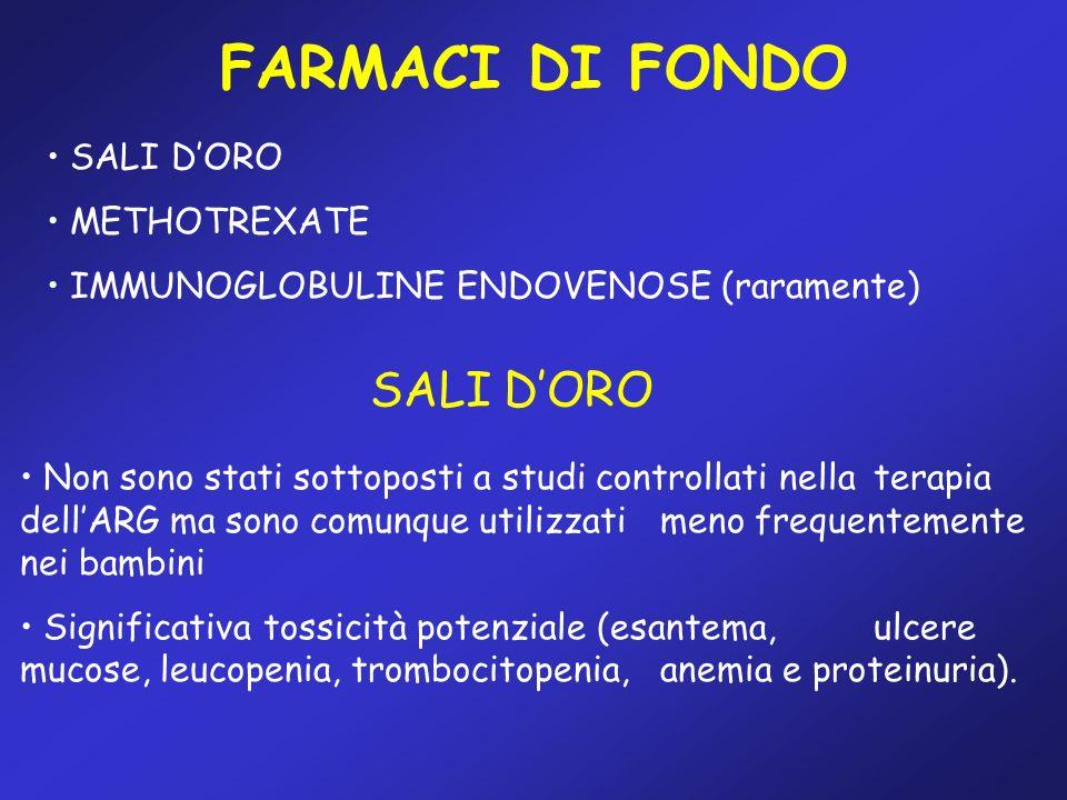 FARMACI DI FONDO SALI D'ORO SALI D'ORO METHOTREXATE