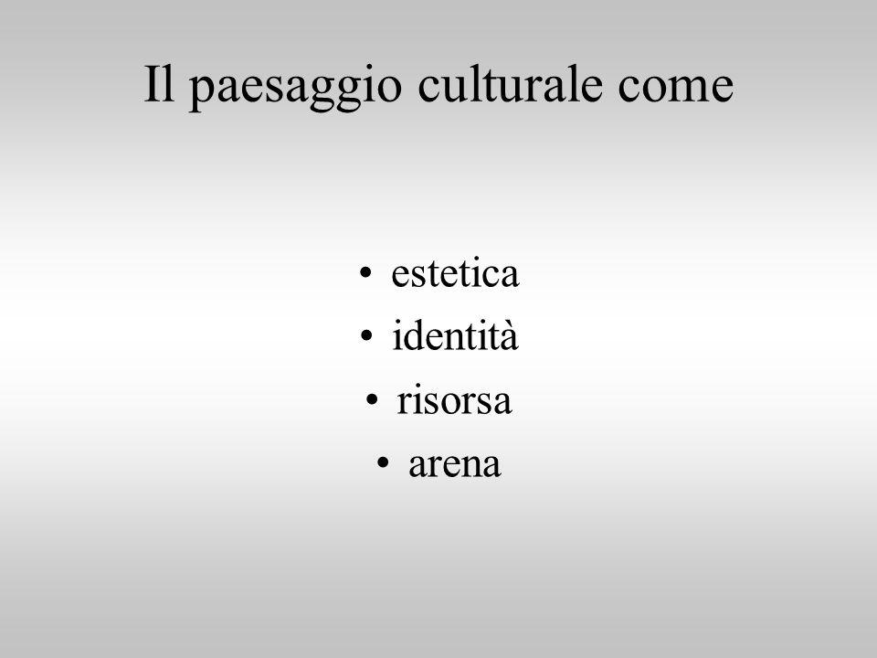 Il paesaggio culturale come