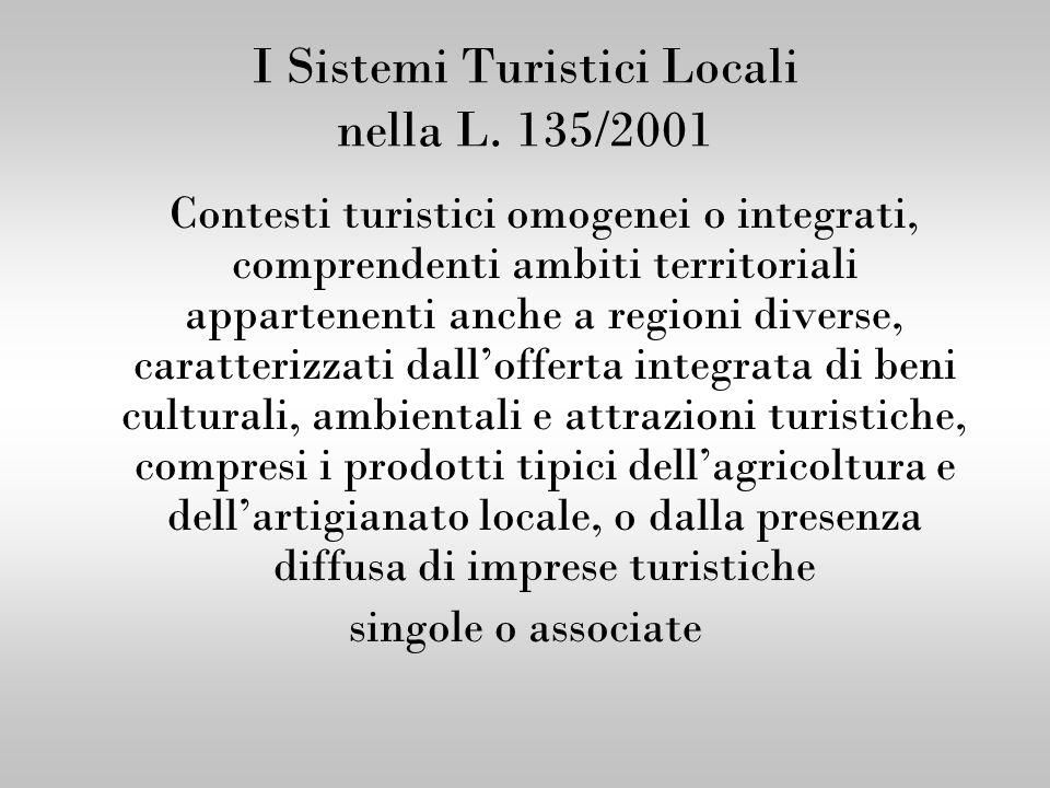 I Sistemi Turistici Locali nella L. 135/2001