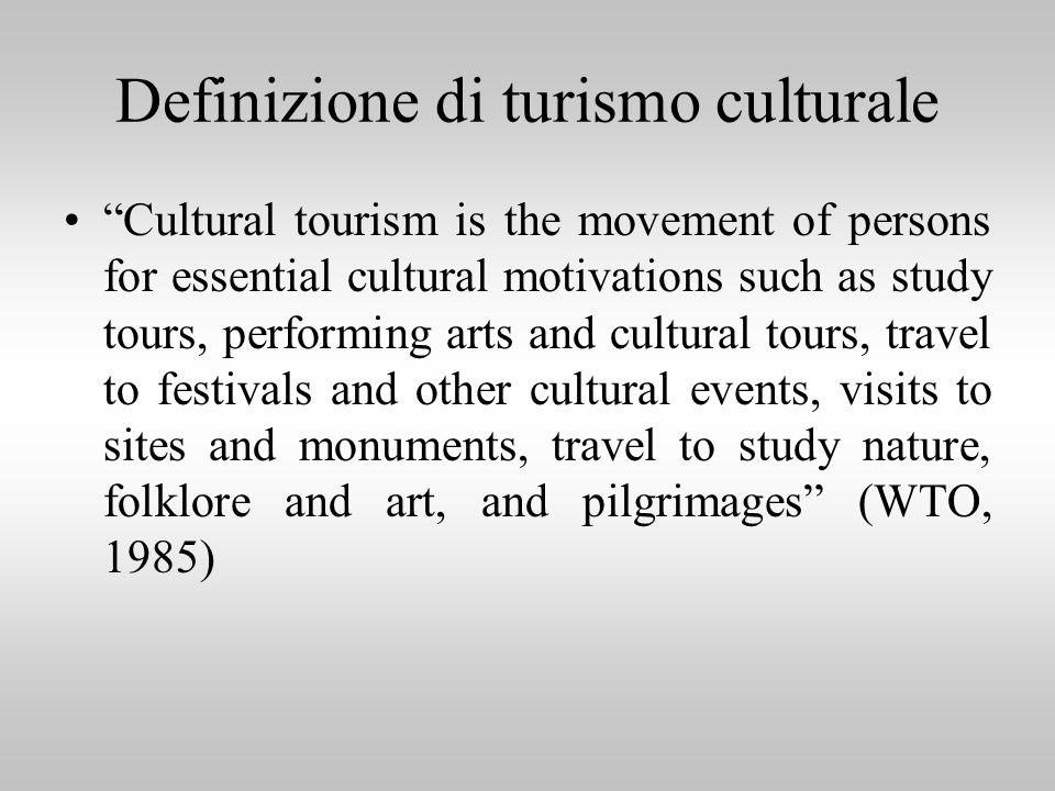 Definizione di turismo culturale