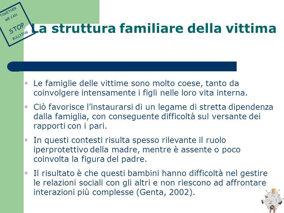 La struttura familiare della vittima