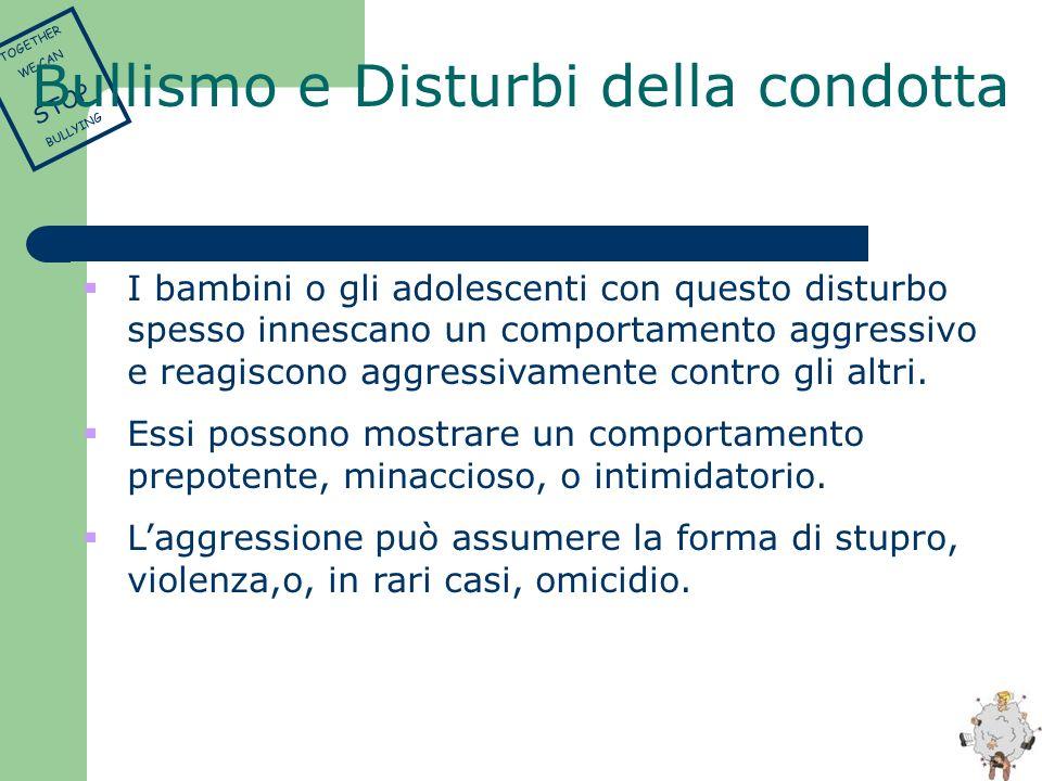 Bullismo e Disturbi della condotta