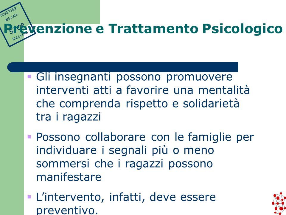 Prevenzione e Trattamento Psicologico