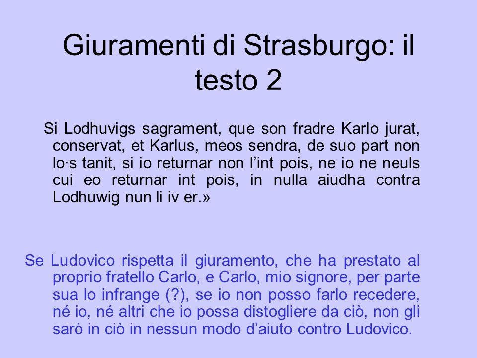 Giuramenti di Strasburgo: il testo 2
