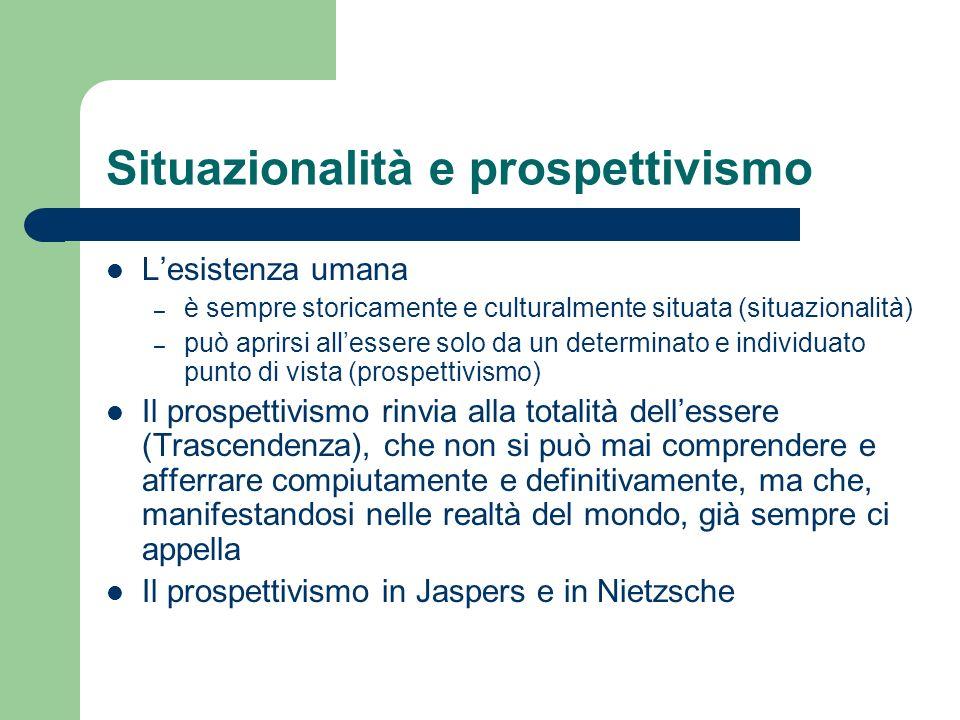 Situazionalità e prospettivismo