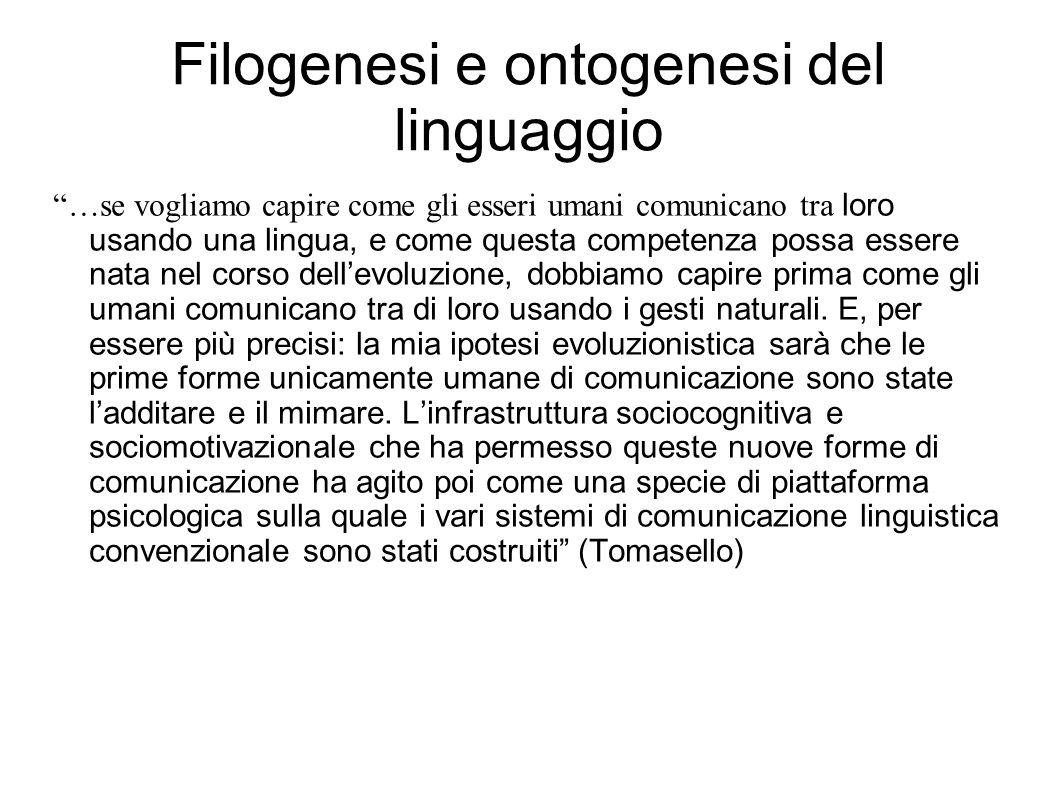 Filogenesi e ontogenesi del linguaggio