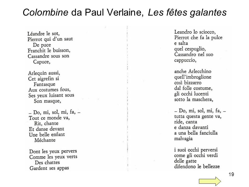 Colombine da Paul Verlaine, Les fêtes galantes