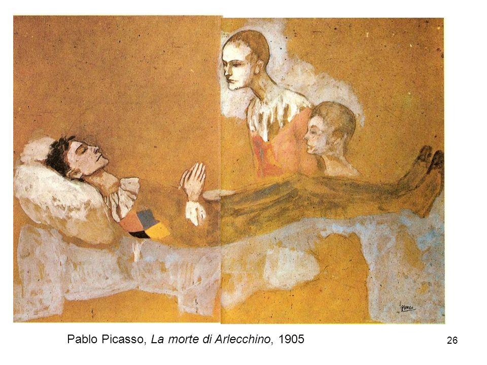 Pablo Picasso, La morte di Arlecchino, 1905