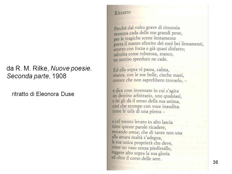da R. M. Rilke, Nuove poesie. Seconda parte, 1908