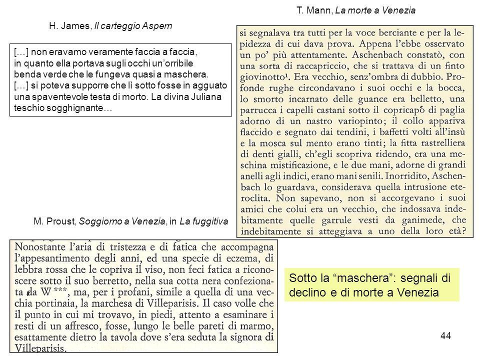 Sotto la maschera : segnali di declino e di morte a Venezia