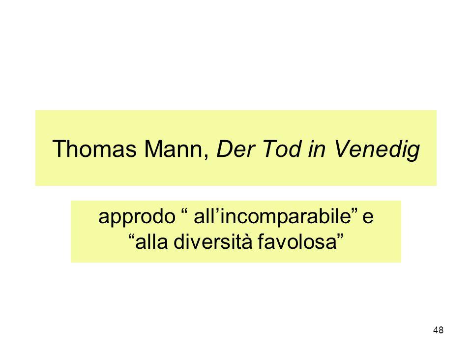 Thomas Mann, Der Tod in Venedig