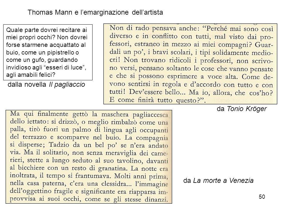 Thomas Mann e l'emarginazione dell'artista