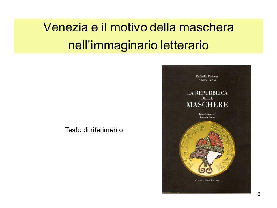 Venezia e il motivo della maschera nell'immaginario letterario
