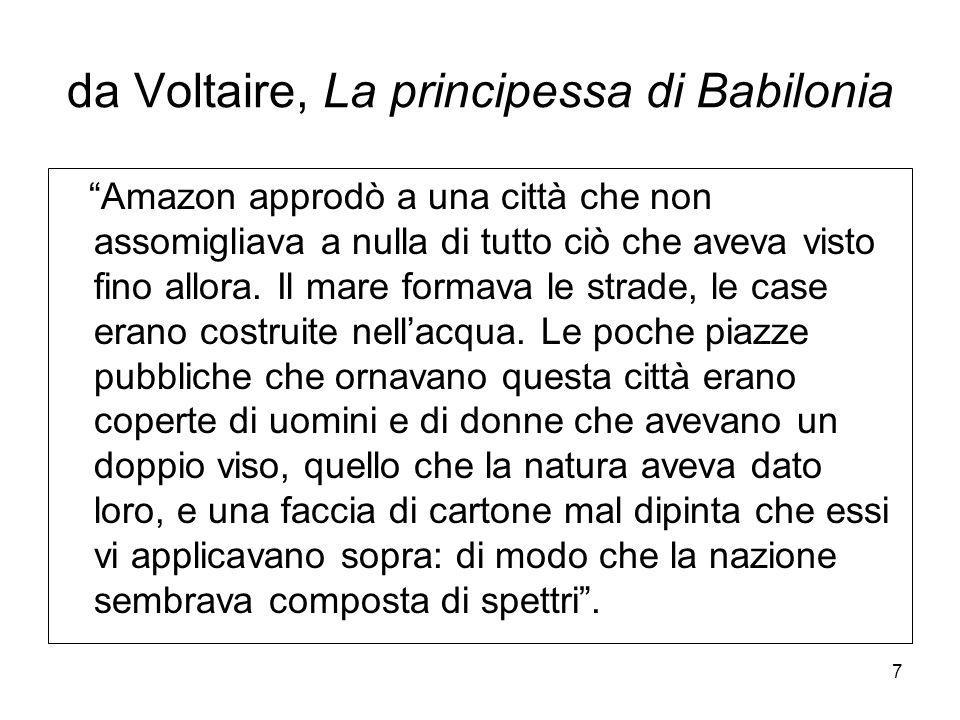 da Voltaire, La principessa di Babilonia
