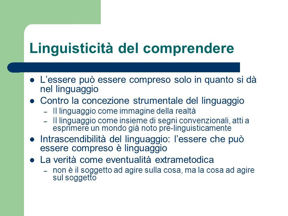 Linguisticità del comprendere