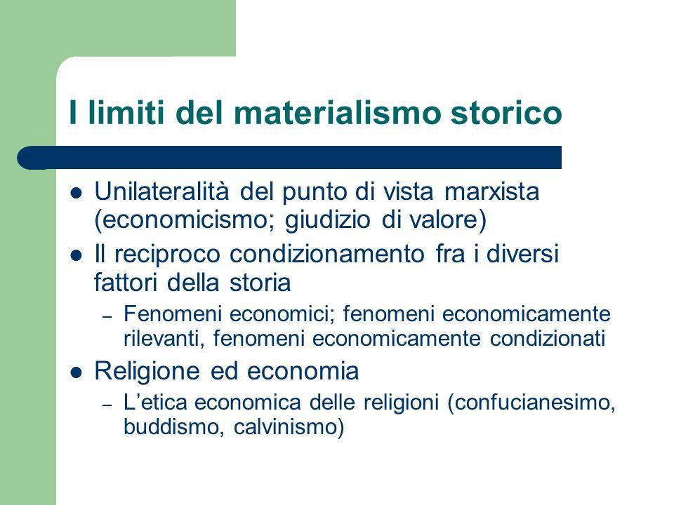 I limiti del materialismo storico