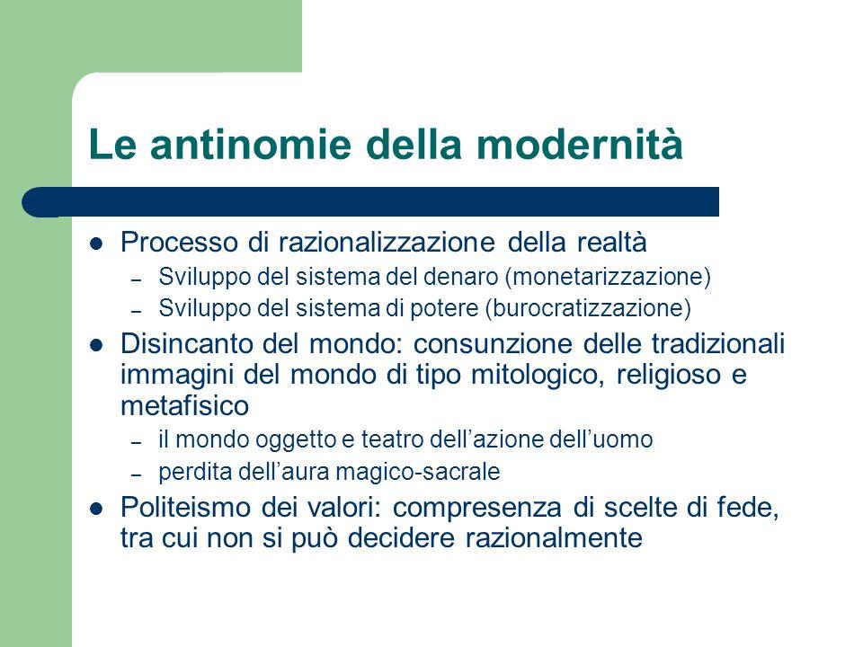 Le antinomie della modernità