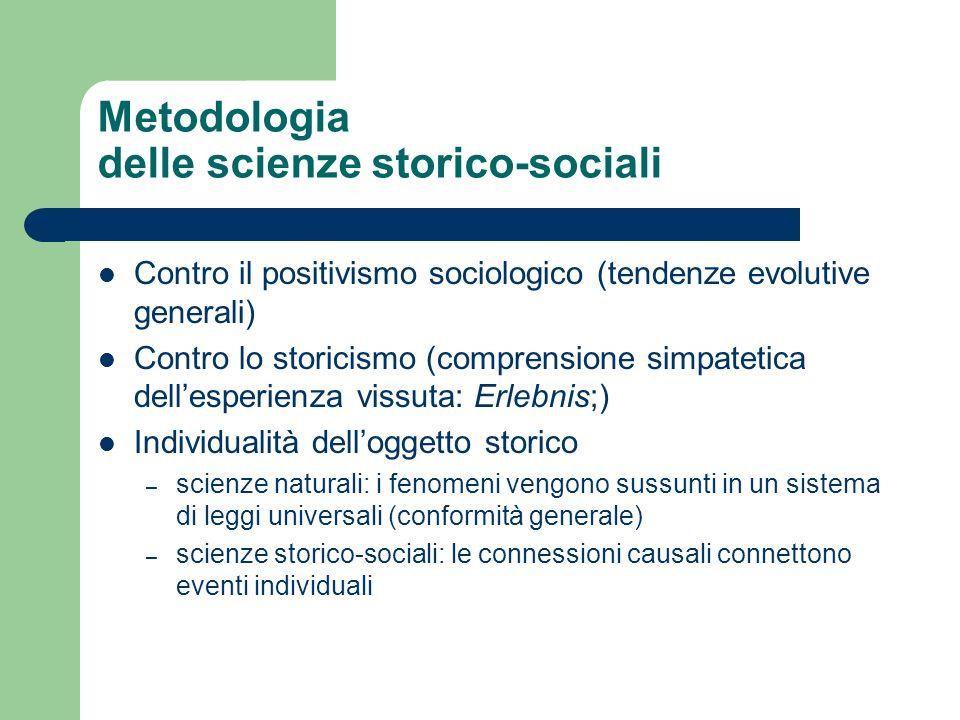 Metodologia delle scienze storico-sociali
