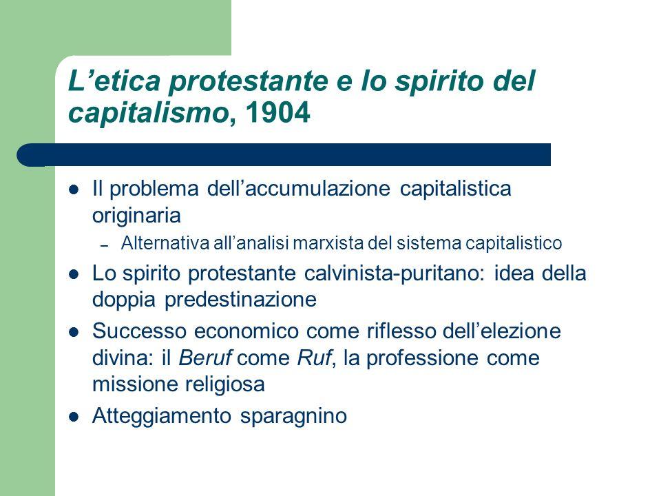 L'etica protestante e lo spirito del capitalismo, 1904