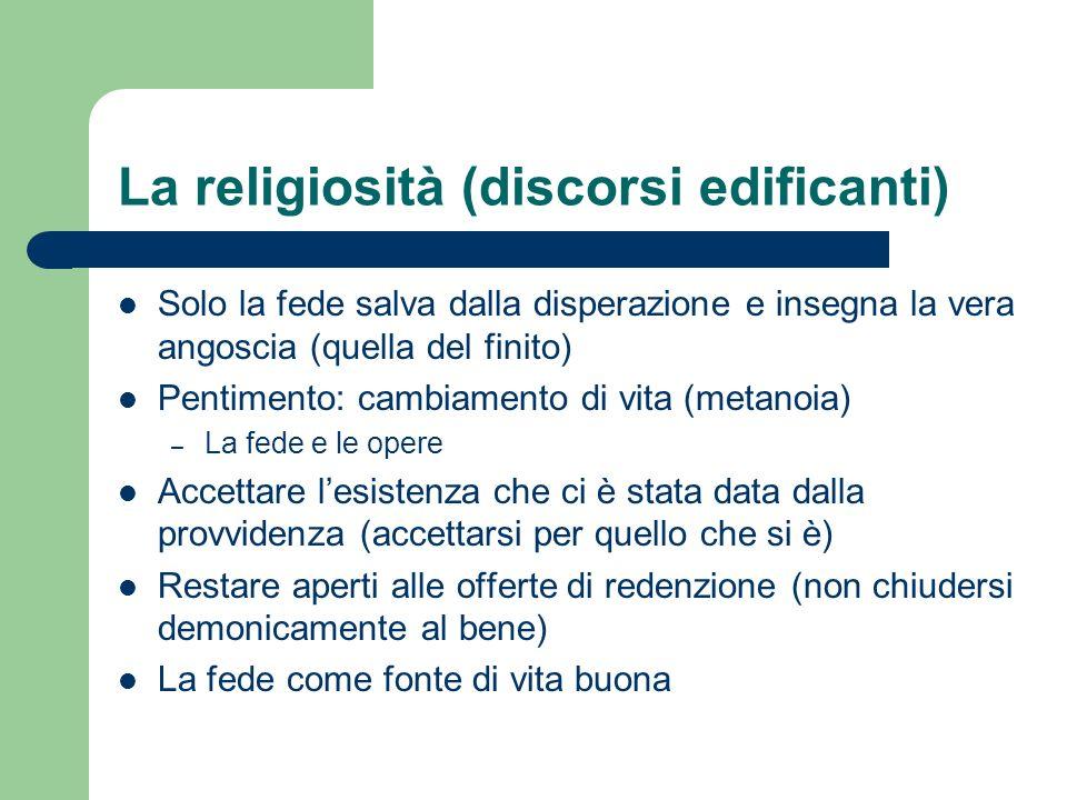 La religiosità (discorsi edificanti)