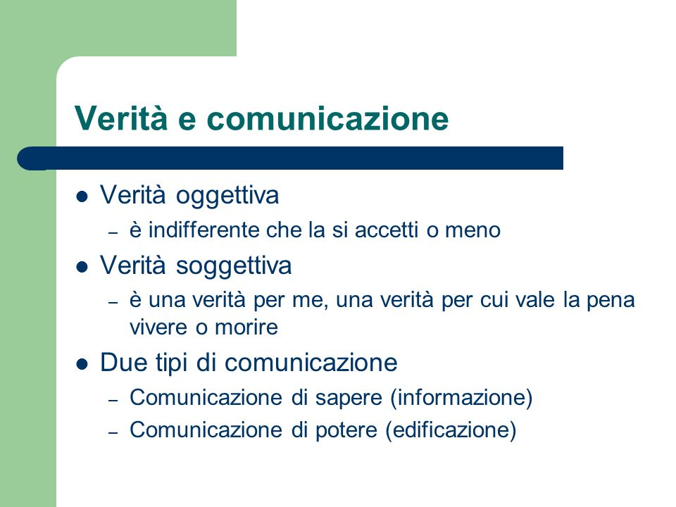 Verità e comunicazione