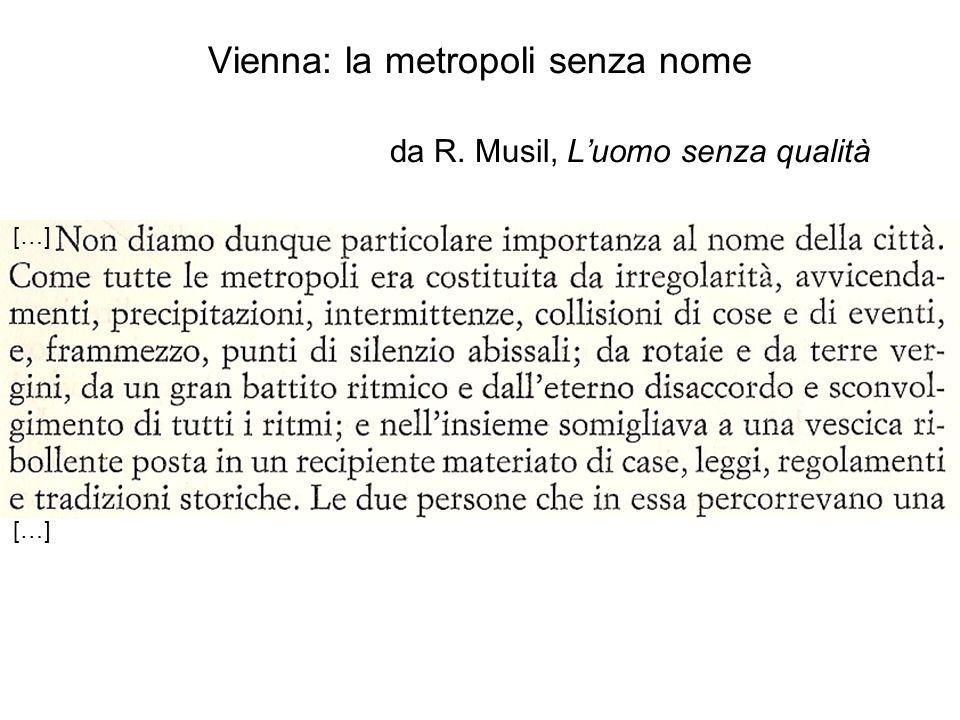 Vienna: la metropoli senza nome da R. Musil, L'uomo senza qualità