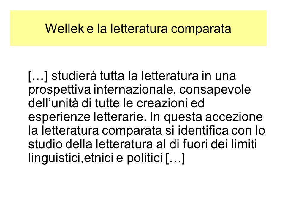 Wellek e la letteratura comparata