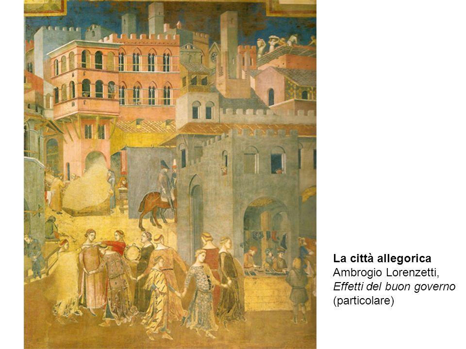 La città allegorica Ambrogio Lorenzetti, Effetti del buon governo (particolare)