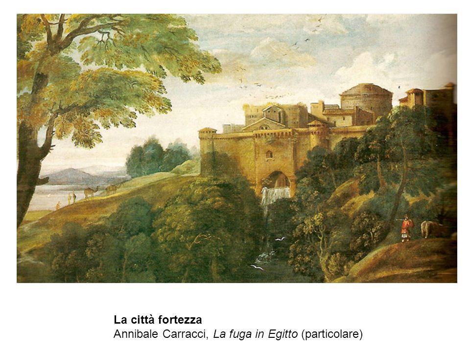 La città fortezza Annibale Carracci, La fuga in Egitto (particolare)