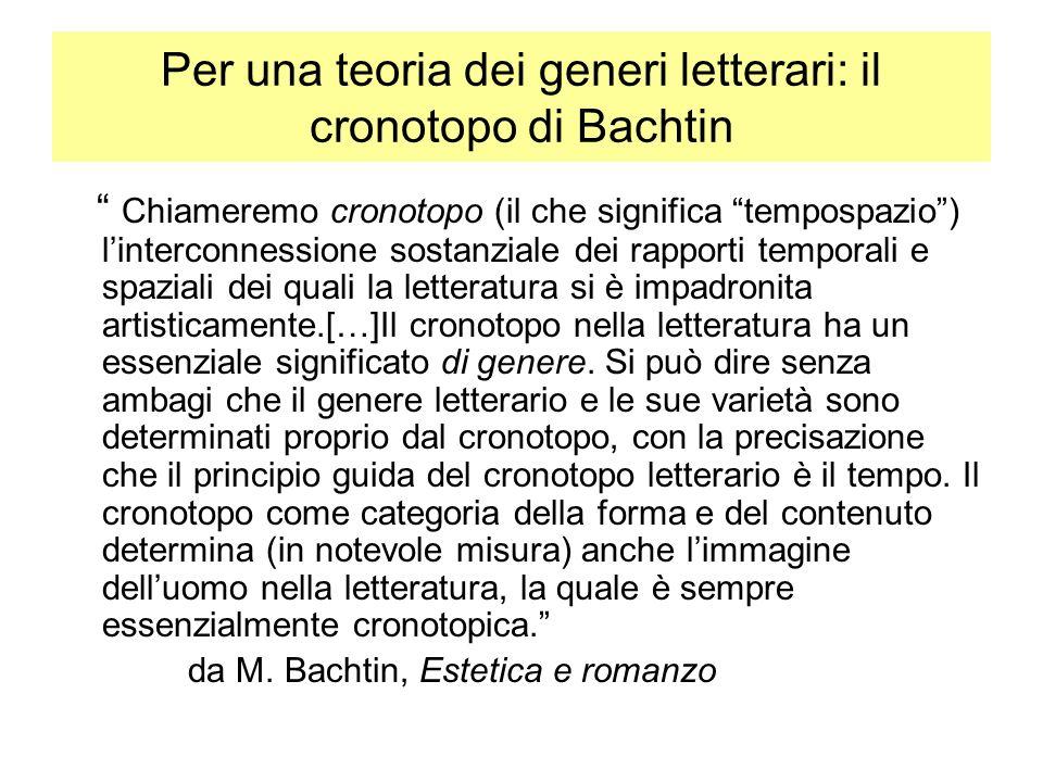 Per una teoria dei generi letterari: il cronotopo di Bachtin