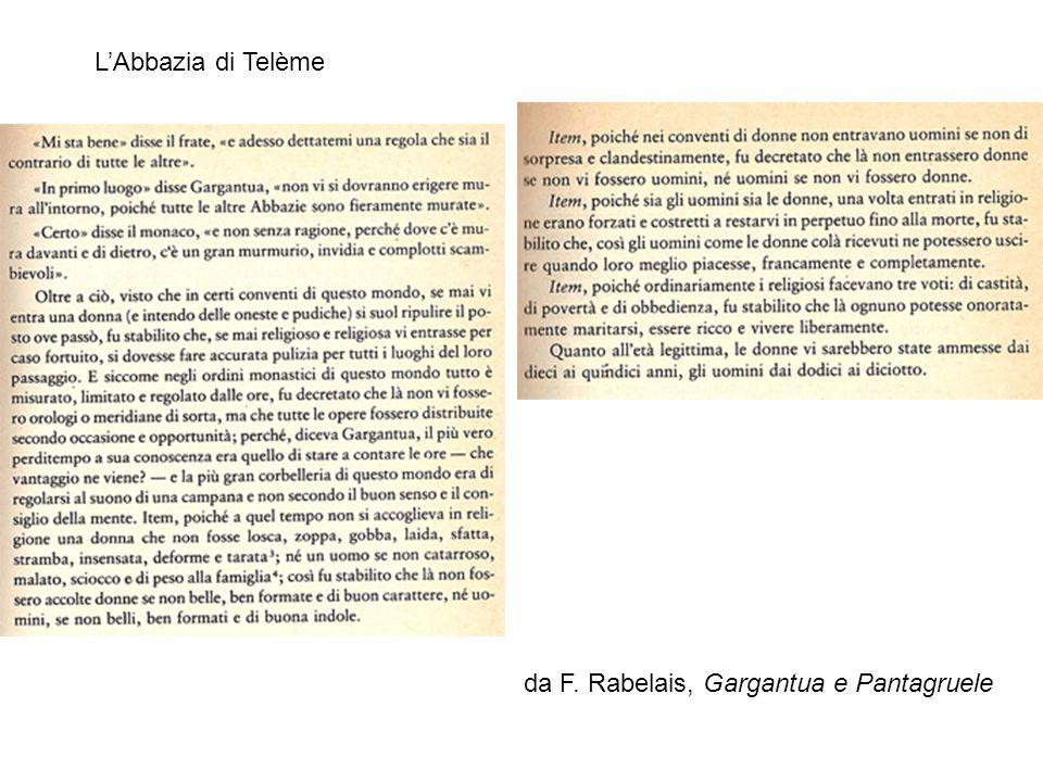 L'Abbazia di Telème da F. Rabelais, Gargantua e Pantagruele