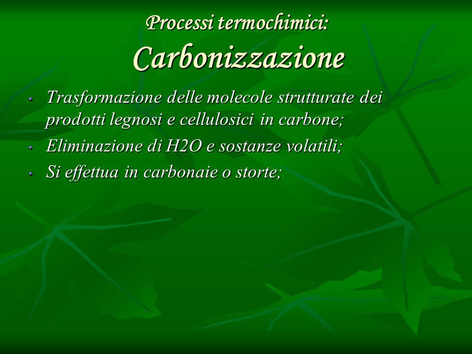 Processi termochimici: Carbonizzazione