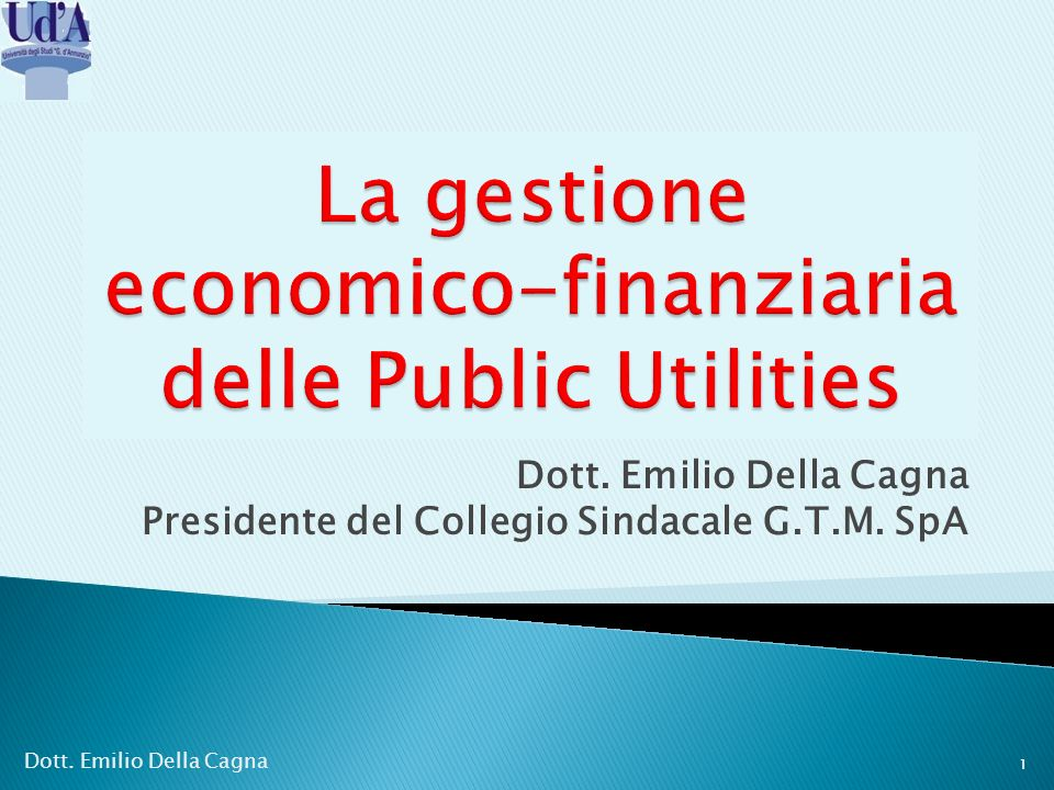 La gestione economico-finanziaria delle Public Utilities