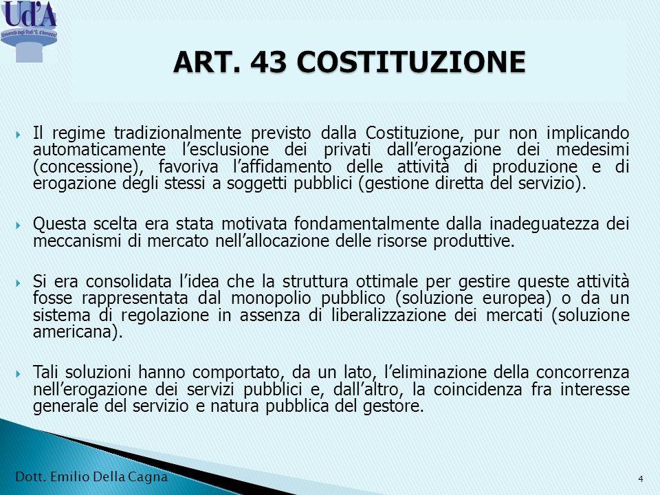 ART. 43 COSTITUZIONE
