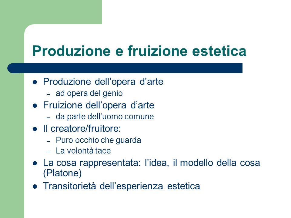 Produzione e fruizione estetica