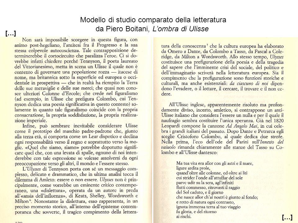Modello di studio comparato della letteratura
