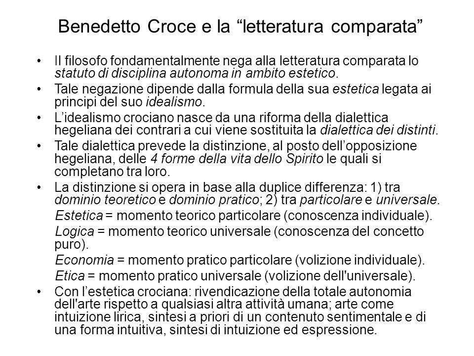 Benedetto Croce e la letteratura comparata