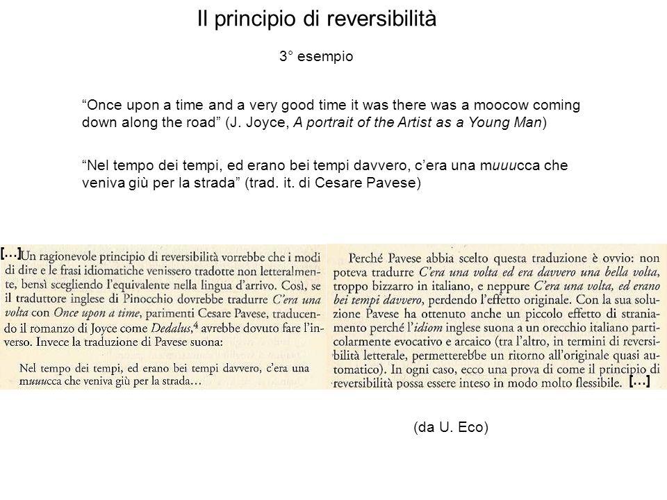 Il principio di reversibilità