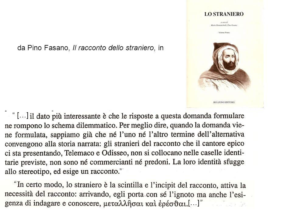 da Pino Fasano, Il racconto dello straniero, in