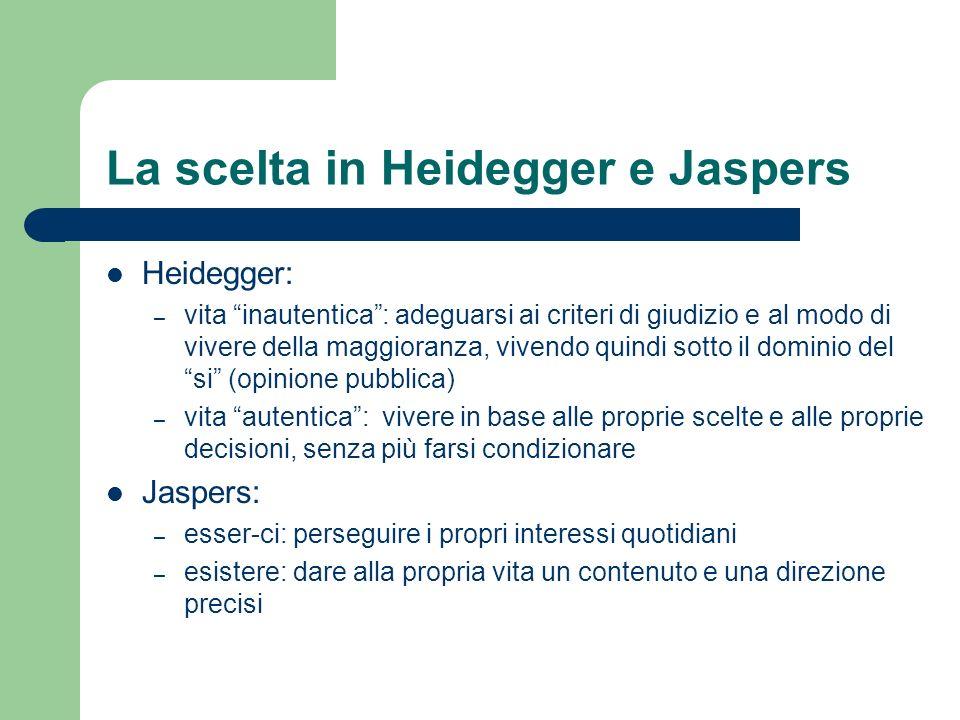 La scelta in Heidegger e Jaspers